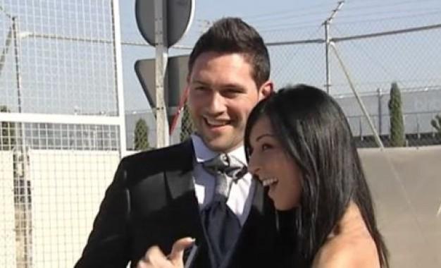 ویدئو/تازه عروس و دامادی که در زمین تمرین رئال امضای یادگاری گرفتند!