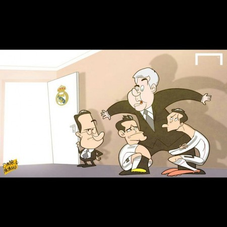 کاریکاتور/ حمایت خامس و رونالدو از کارلو!