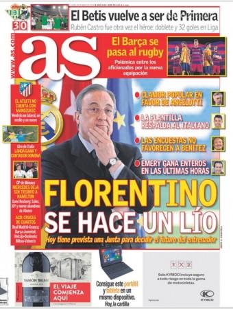 روزنامه های اسپانیا رئال مادرید