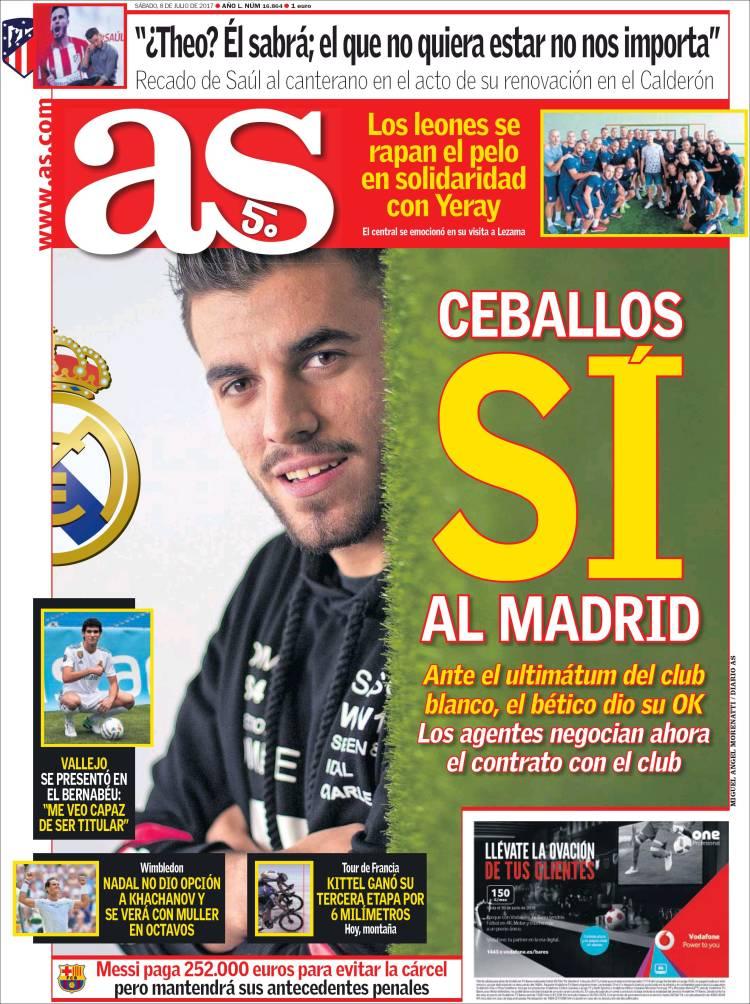 روزنامه آس، 17 تیر