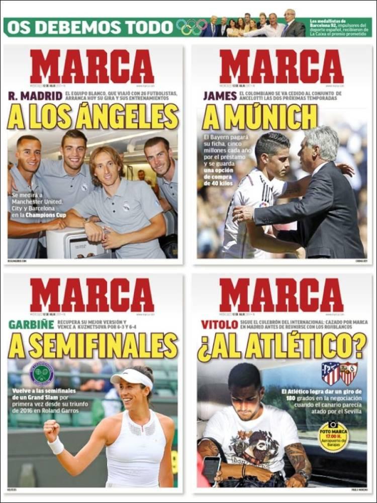 روزنامه مارکا، 21 تیر